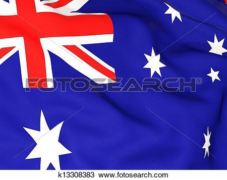 Drawing of Flag of heard island and mcdonald islands k13308383.