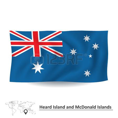 Flag Of Heard Island And McDonald Islands.