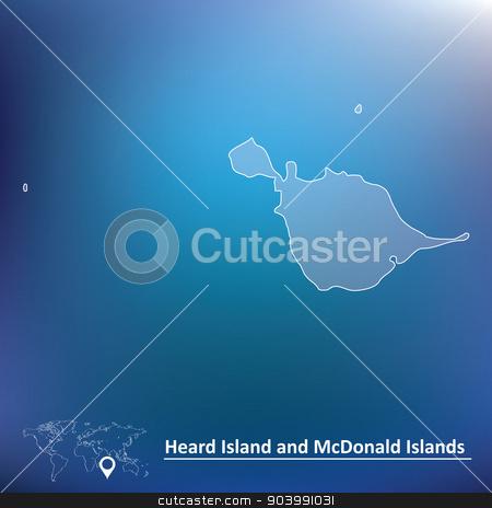 Map of Heard Island and McDonald Islands stock vector.