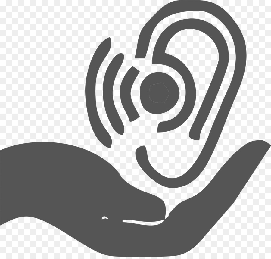 Hearing Test Black And White png download.