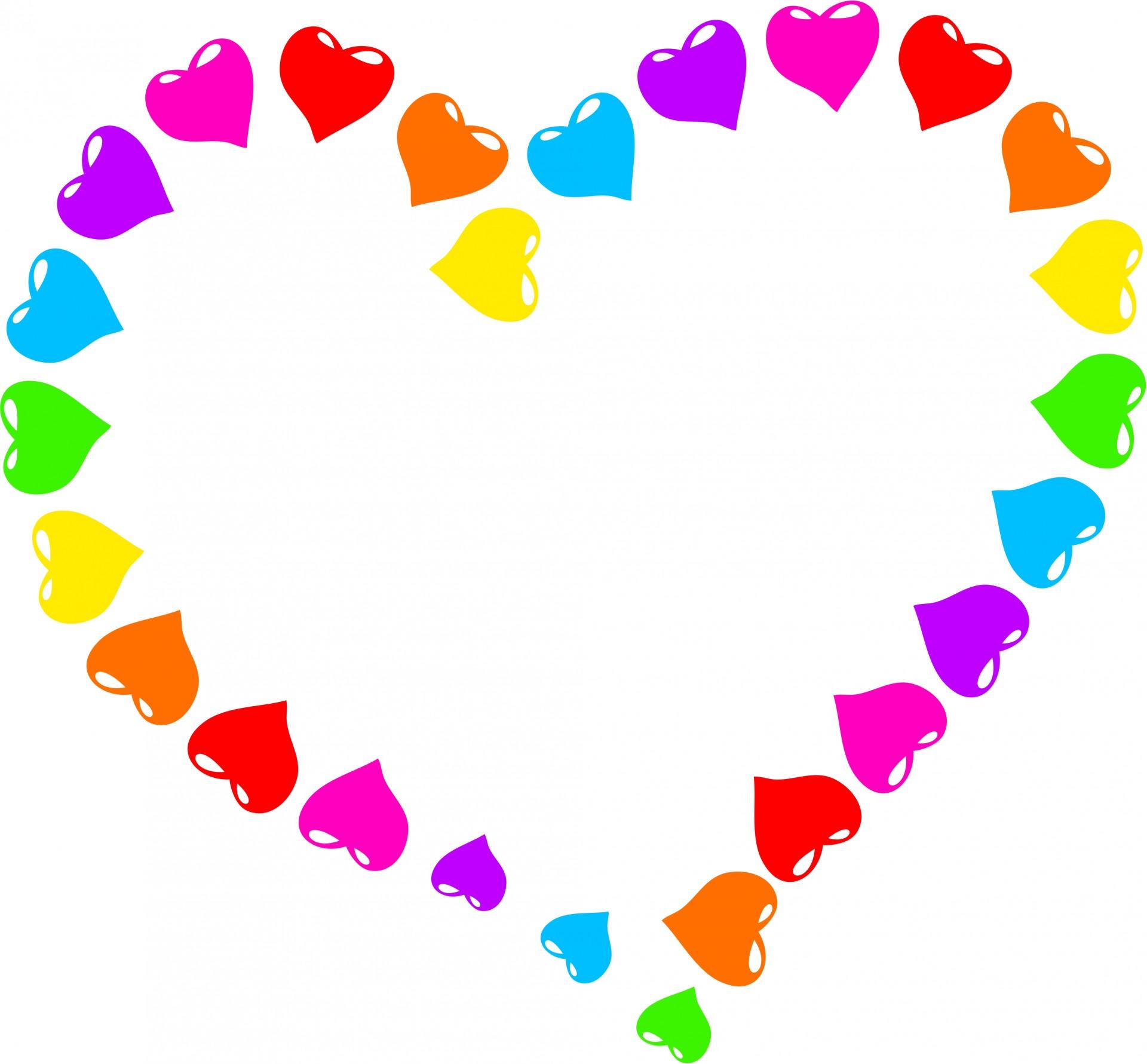 Rainbow Heart Clipart Free Stock Photo.
