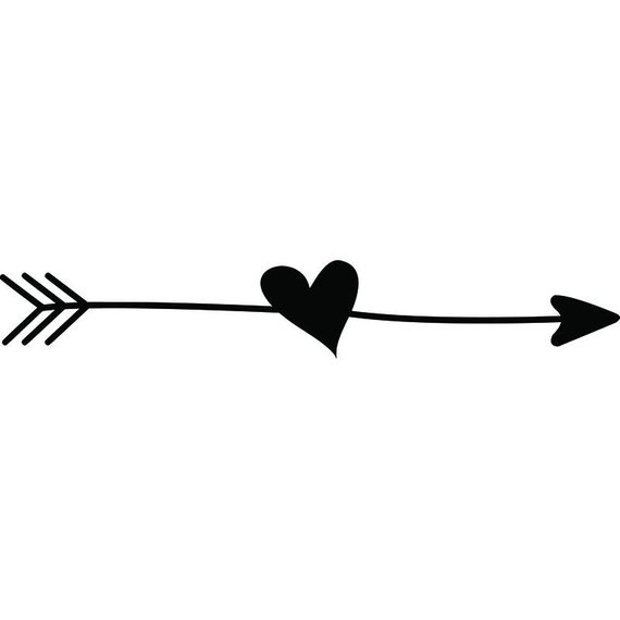 Doodle Ding #1 Arrow Heart Love Line Break Cute Quote Design Element Logo  .SVG .EPS .PNG Vector Cricut Cutting Download Printable Scrapbook.