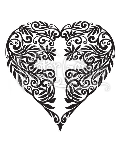 Flower Heart Cross ClipArt.
