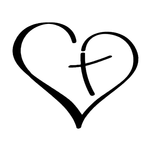 Christian Heart Die Cut Vinyl Decal PV1211.