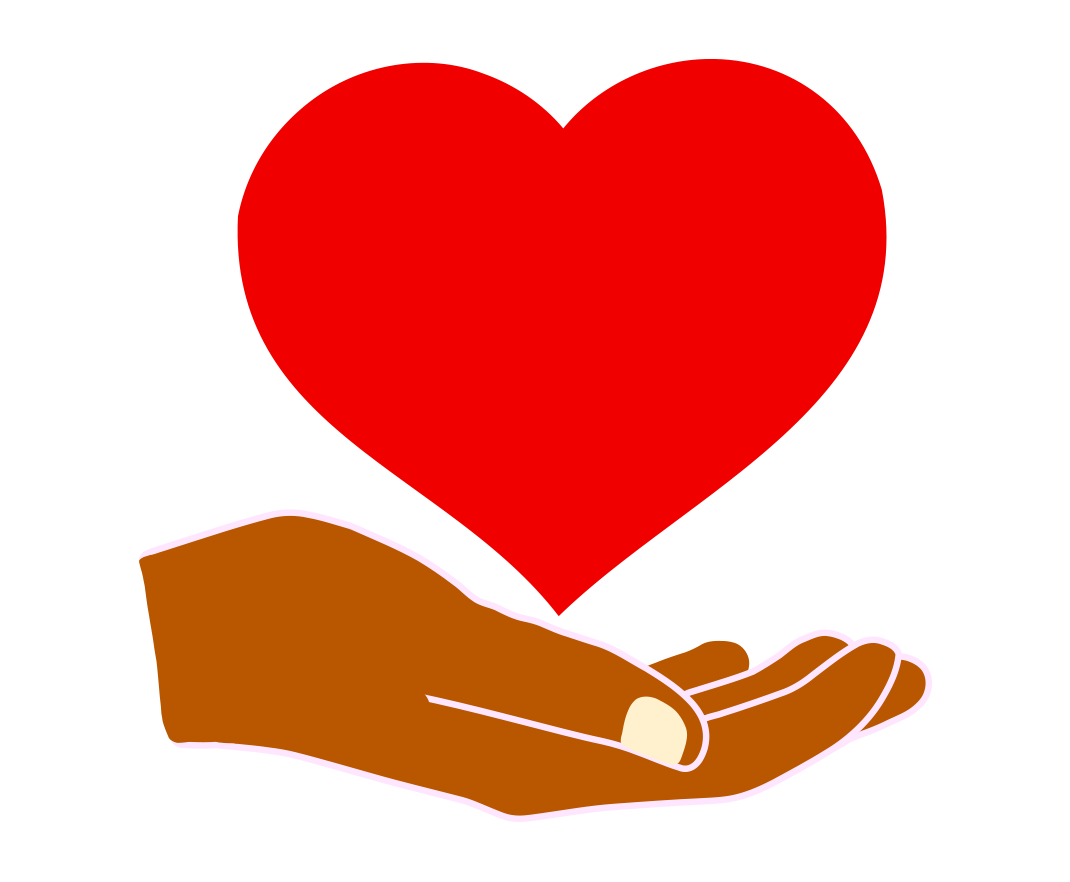 heart in hand png clipart transparent without background image free.