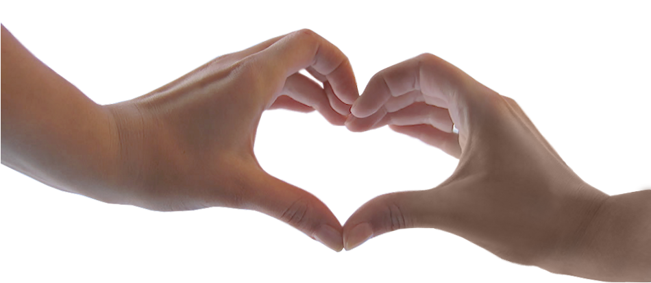 Heart with Hands PNG Clipart Image.