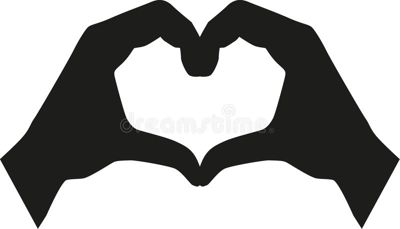Heart Hands Stock Illustrations.