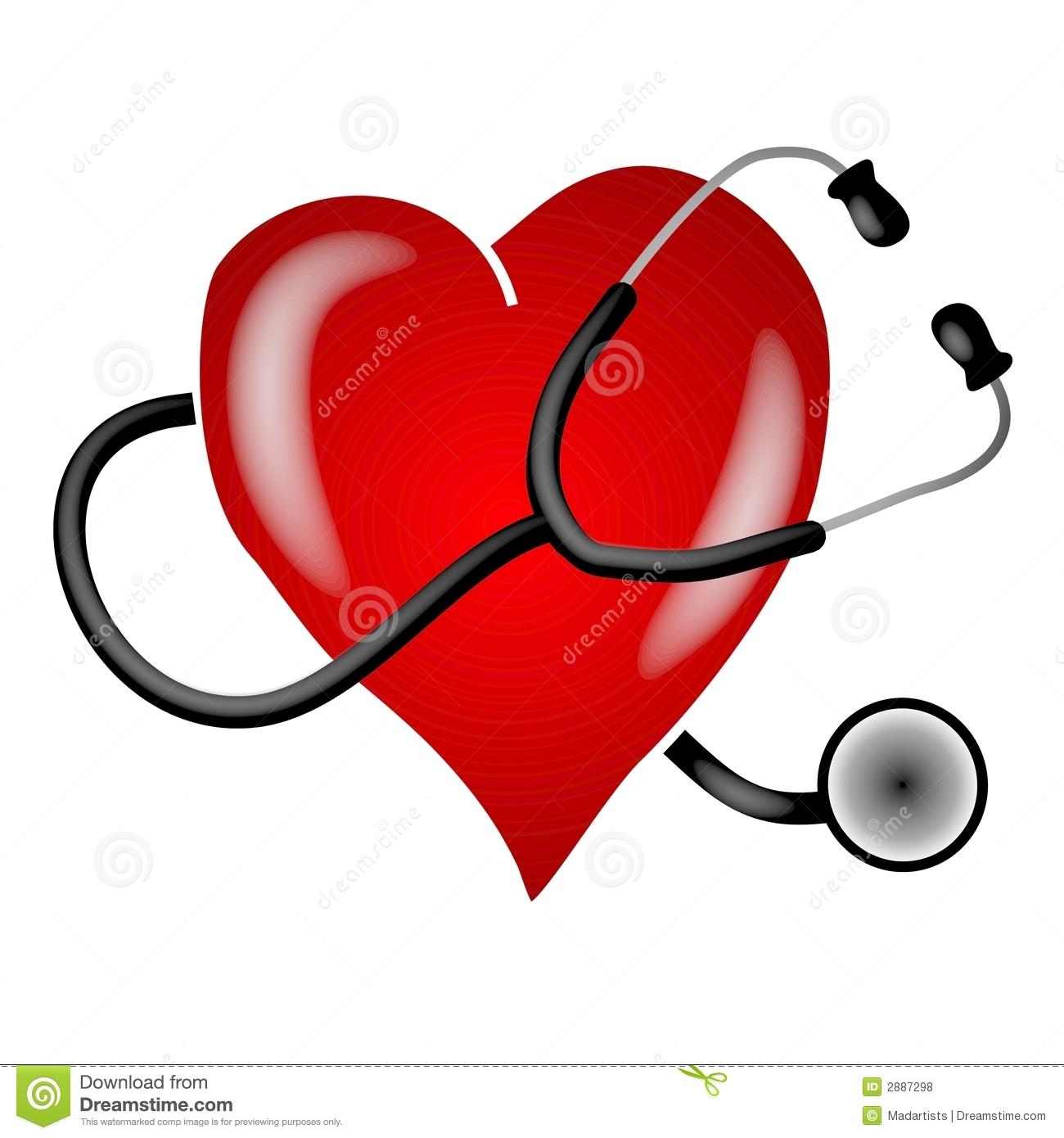 Stethoscope Heart Clip Art stock illustration. Illustration of.