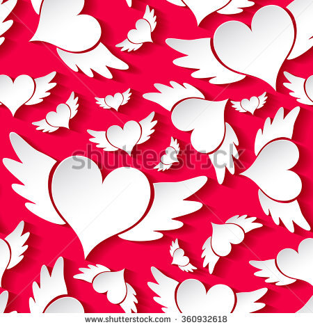 Heart With Wings Stock Images, Royalty.