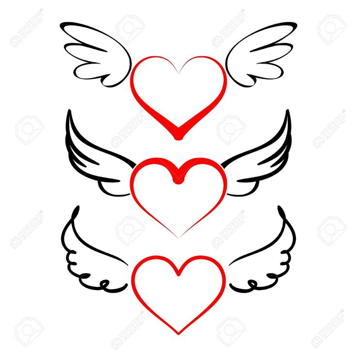 25+ best ideas about Heart Wings Tattoo on Pinterest.