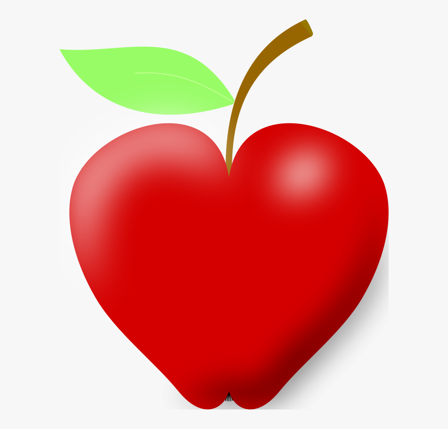 Heart Shaped Apple Clipart , Transparent Cartoon, Free.