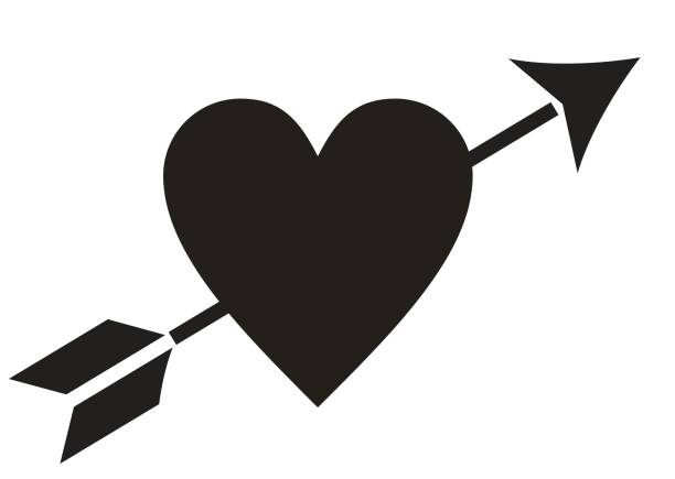Best Clip Art Of Cupid Heart Arrow Illustrations, Royalty.