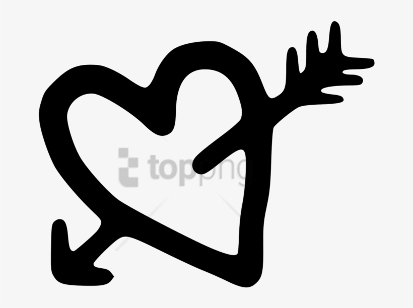 Free Png Download Heart And Arrow Drawing Png Images.