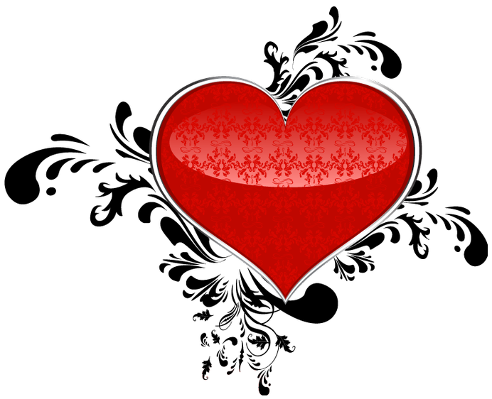 Red Art Heart PNG Clipart.