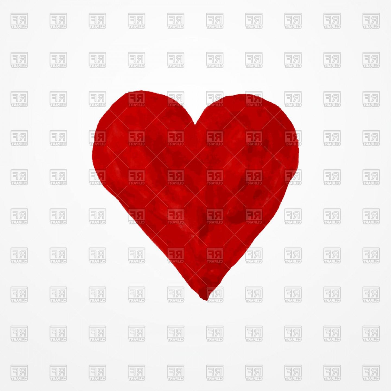 Watercolour Heart Icon Vector Clipart.