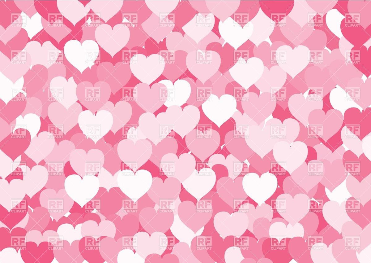 Many pink hearts background Stock Vector Image.