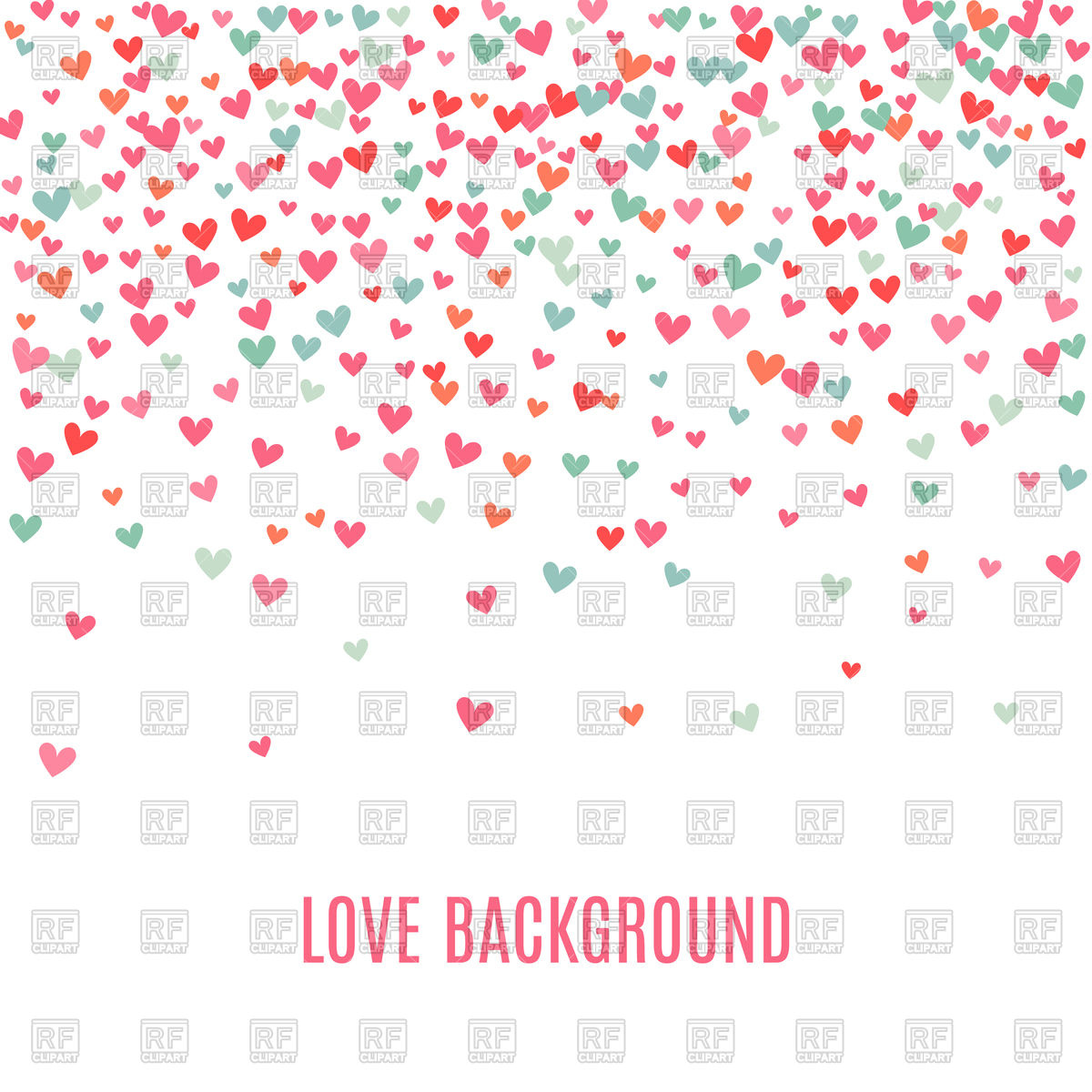 Romantic pink and blue heart background Stock Vector Image.