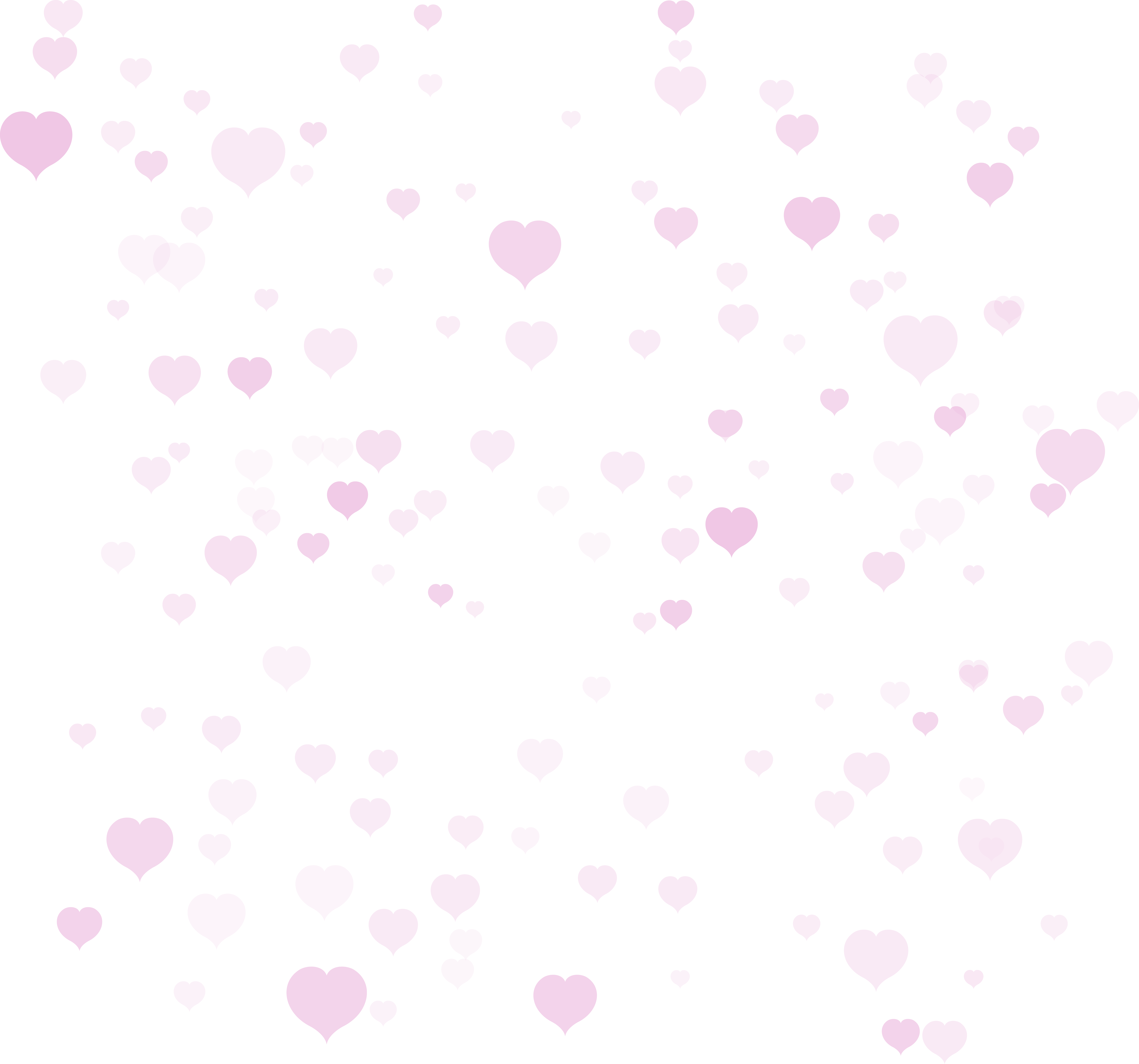 Hearts for Background Transparent PNG Clip Art.