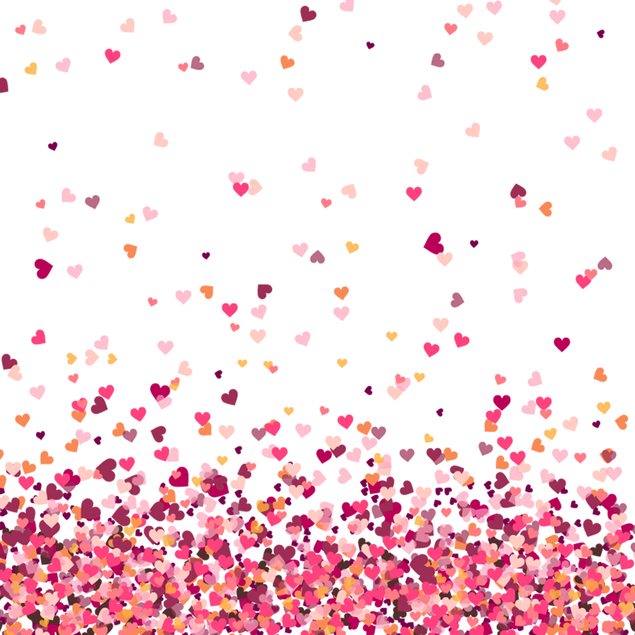 Colorful Heart background PNG.