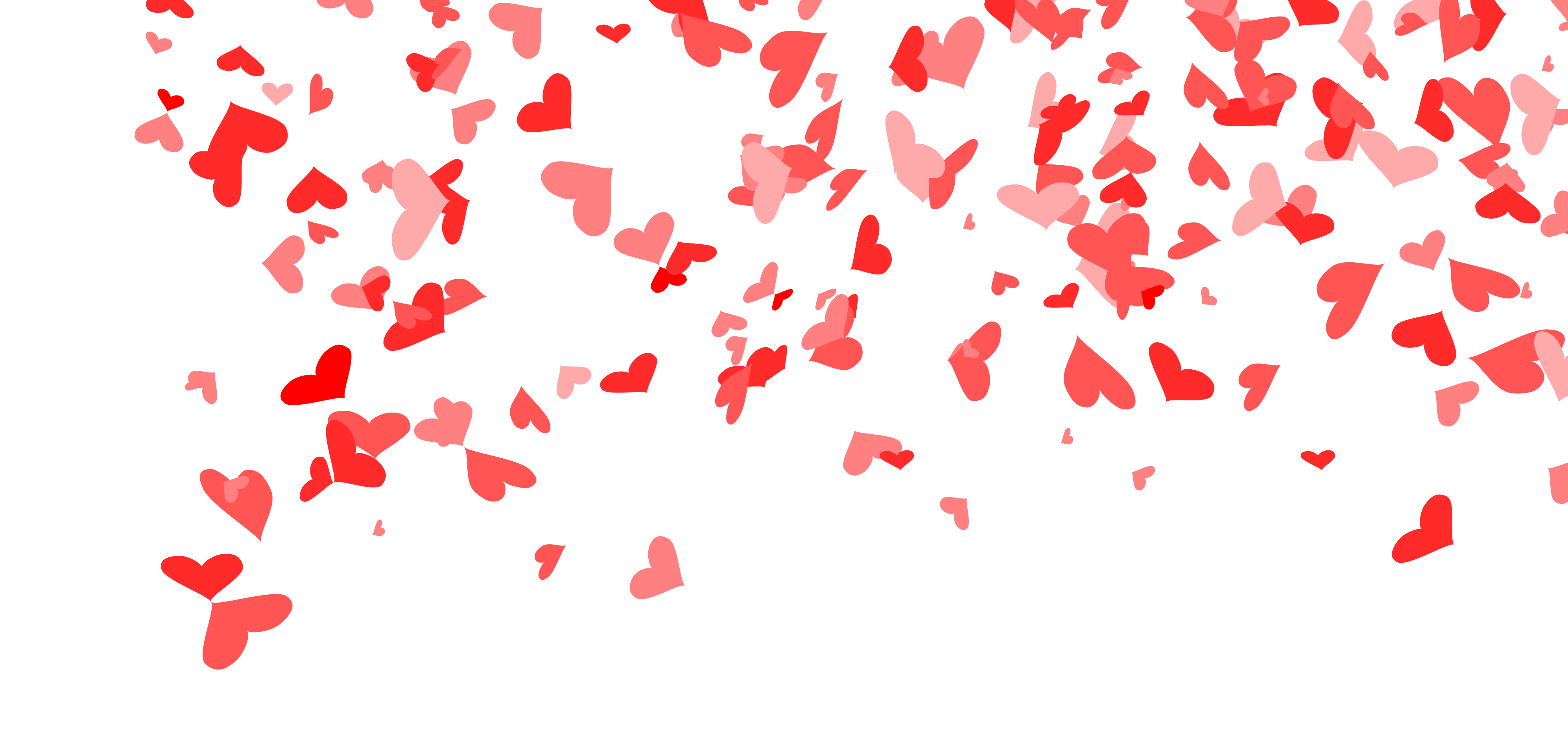 4 Heart Confetti Background (PNG Transparent).