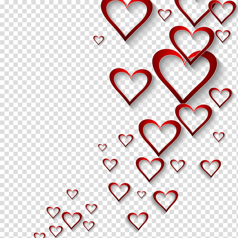 Red hearts , Valentines Day Heart , hearts background transparent.