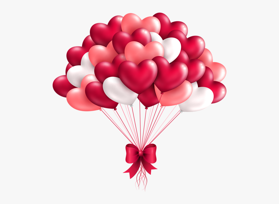 Heart Shaped Balloons Clipart.