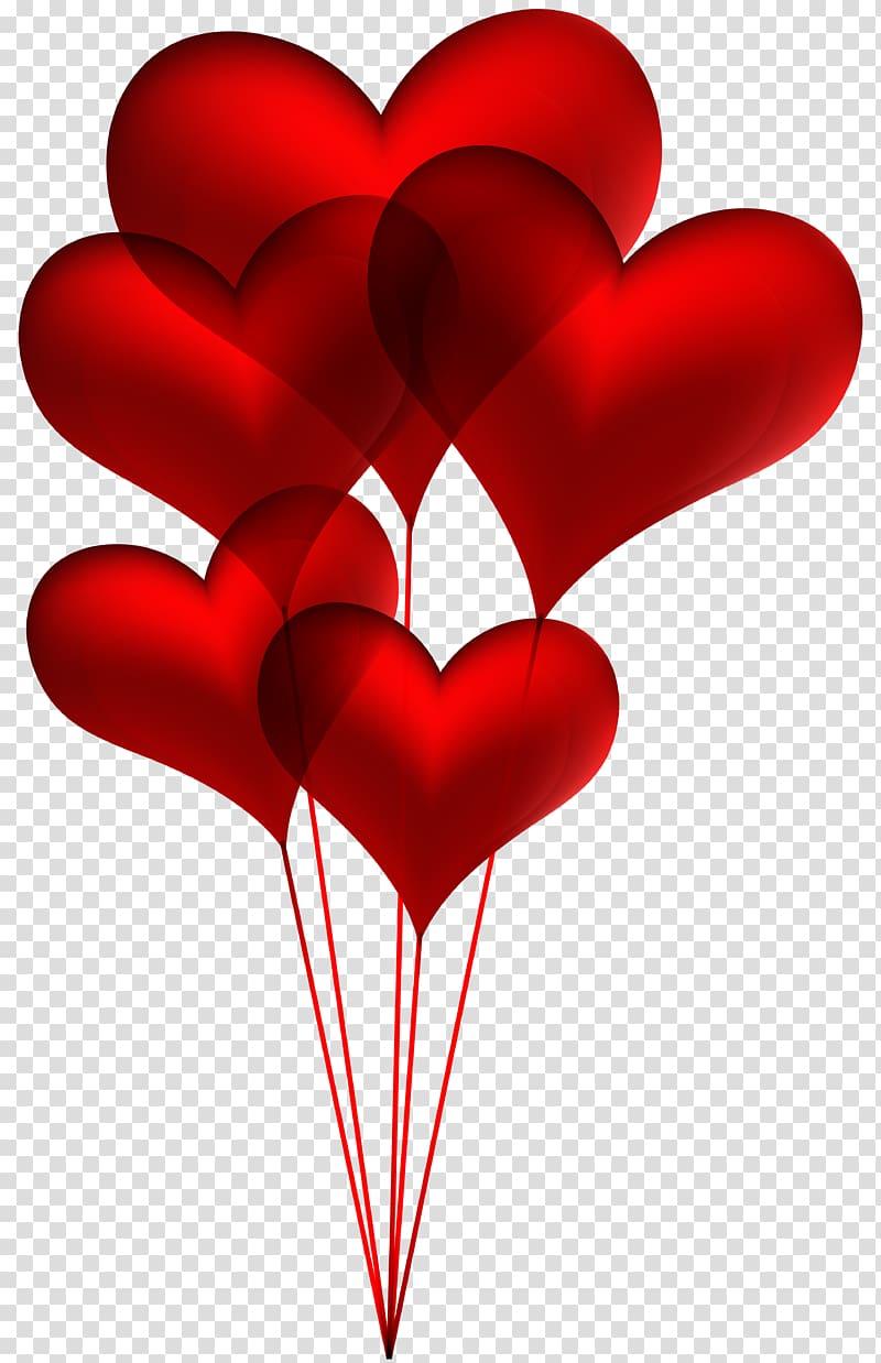 Banner illustration, Heart illustration , Red Heart Balloons.