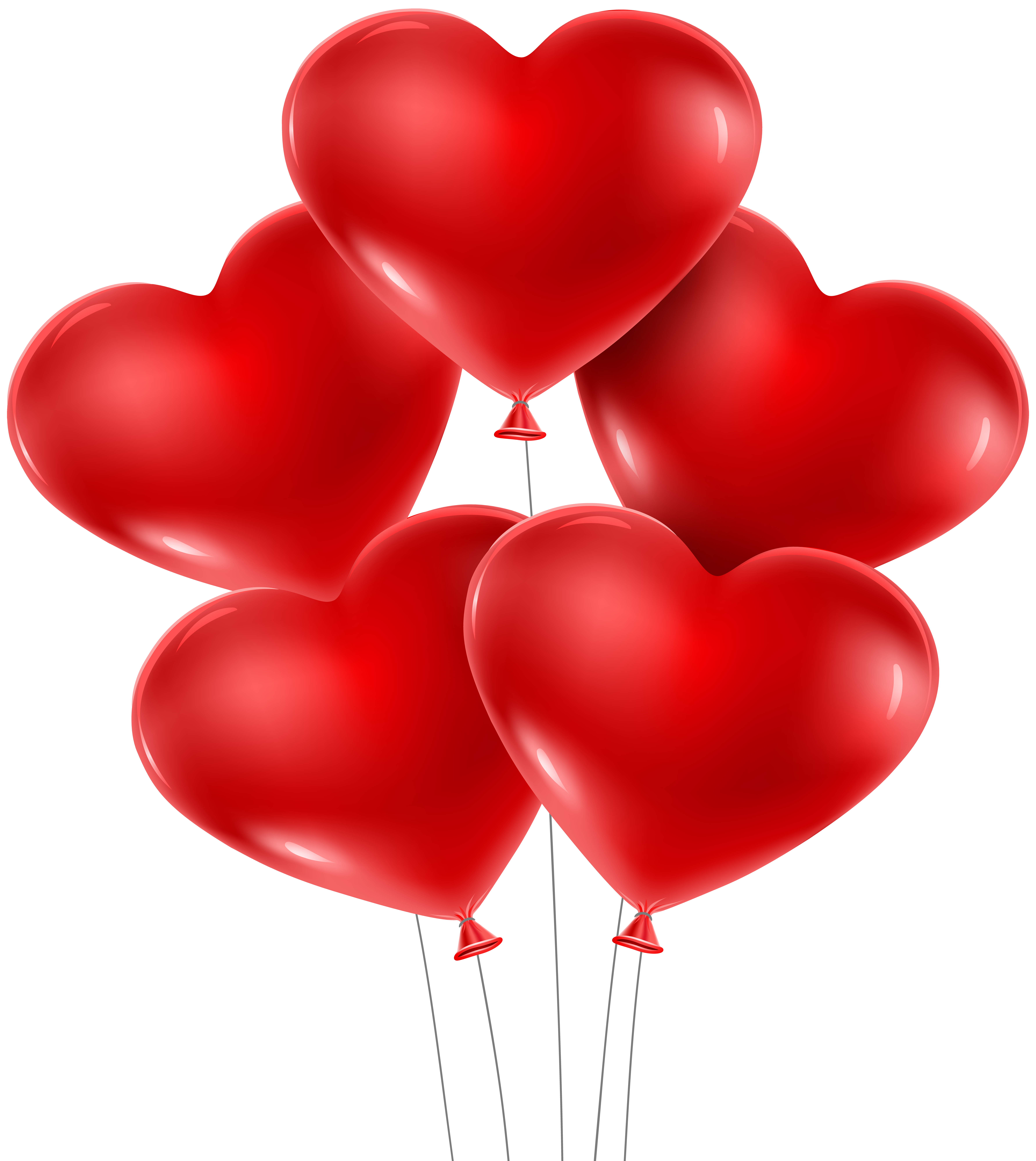 Heart Balloons PNG Clip Art Image.