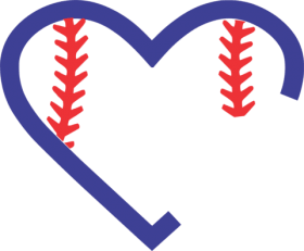 icture transparent download baseball heart clipart.