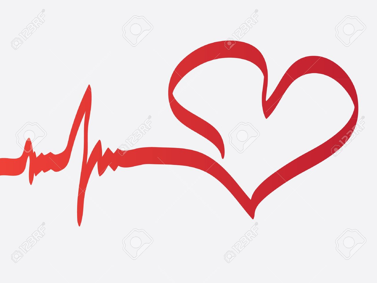 Heartbeat line clipart free.