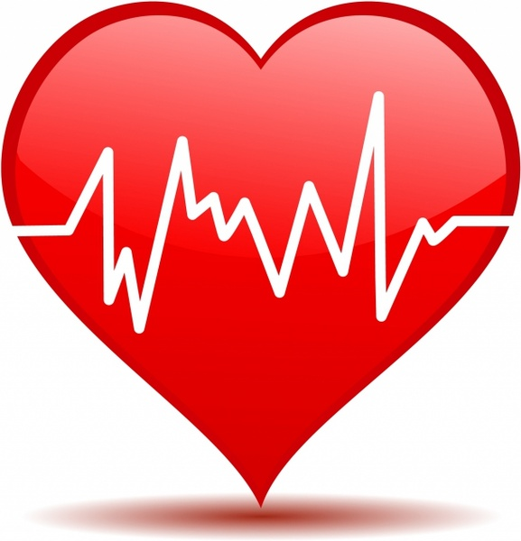 Heart beat vector free vector download 4188 Free vector
