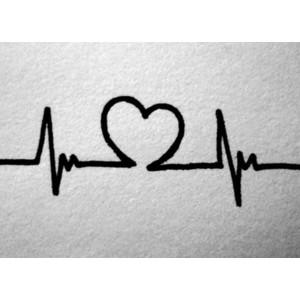 Heart beat clip art.