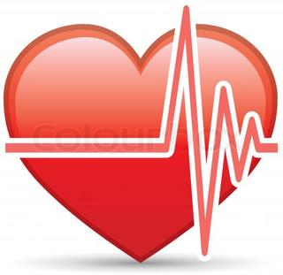 Heart beat clip art.