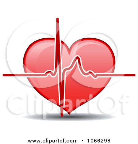 Clipart Green Beat Over A Heart.