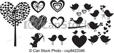 Clip Art Vector of Love.