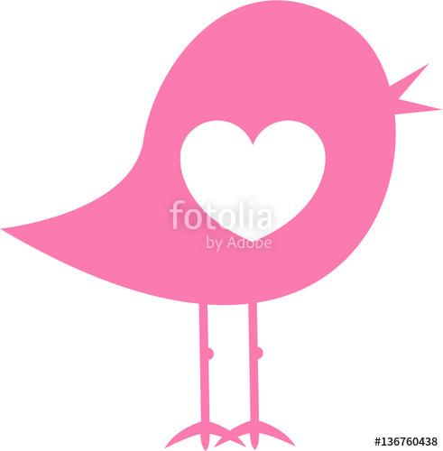 Valentine Heart Bird Silhouette Icon