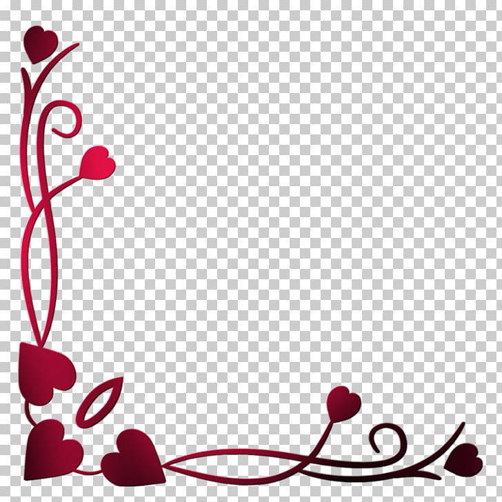Love Blogger Valentine\'s Day, Heart Border PNG clipart.