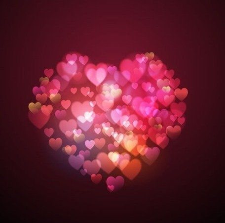 Bokeh Lights Heart Shape Clipart Picture Free Download.