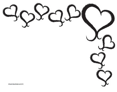 Black And White Heart Border.