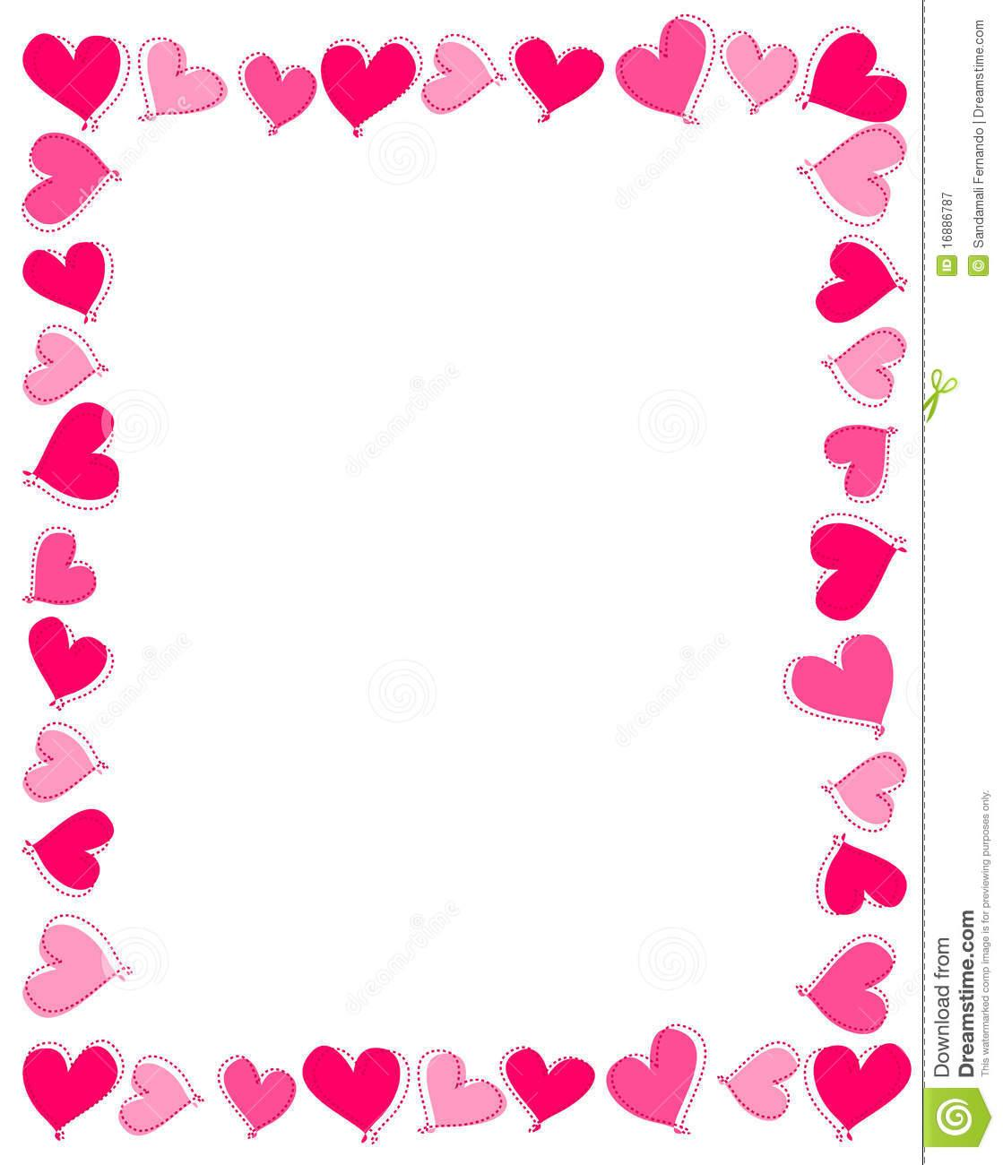 Pink Hearts Border Royalty Free Stock Photography Image 16886787.