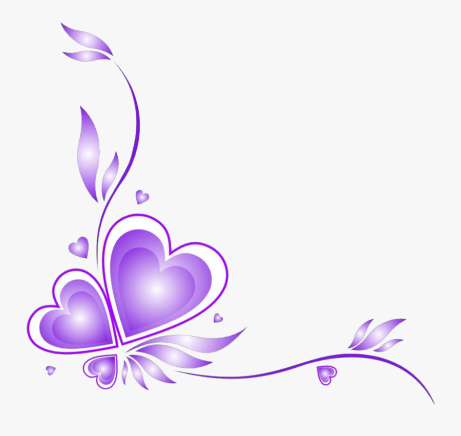 Transparent Valentine Borders Clipart.