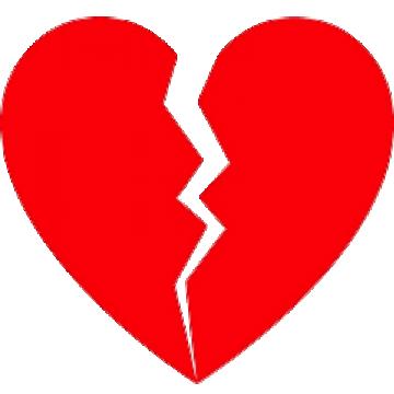 Broken Heart PNG Images.