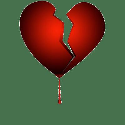 Broken Hearts transparent PNG images.