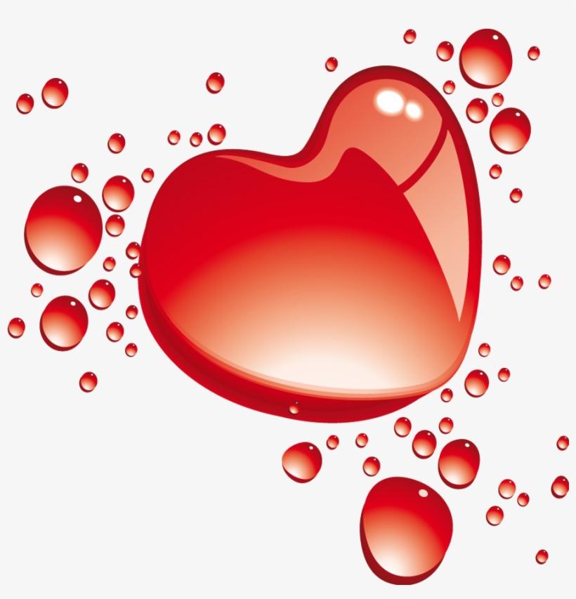Heart Bubbles Clipart PNG Image.