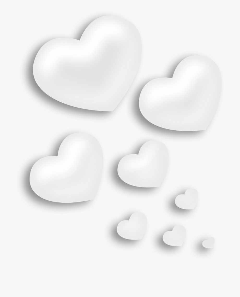 White Hearts Png.