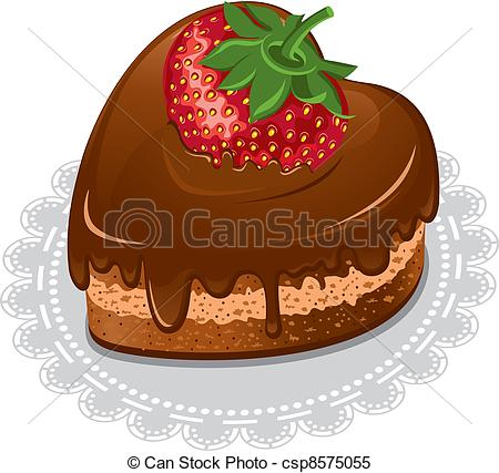 Clipart Vector of Chocolate heart.