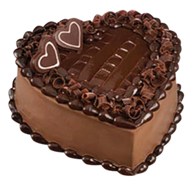 Chocolate Heart Cake PNG Picture.