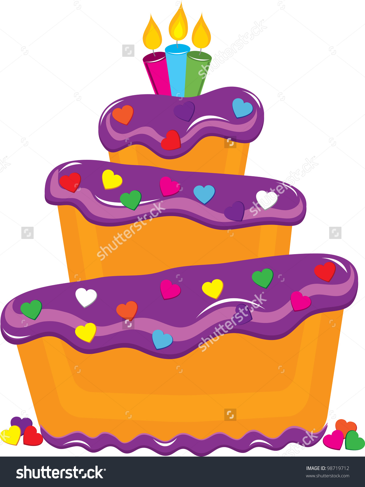 Clip Art Illustration Fancy Layer Cake Stock Illustration 98719712.