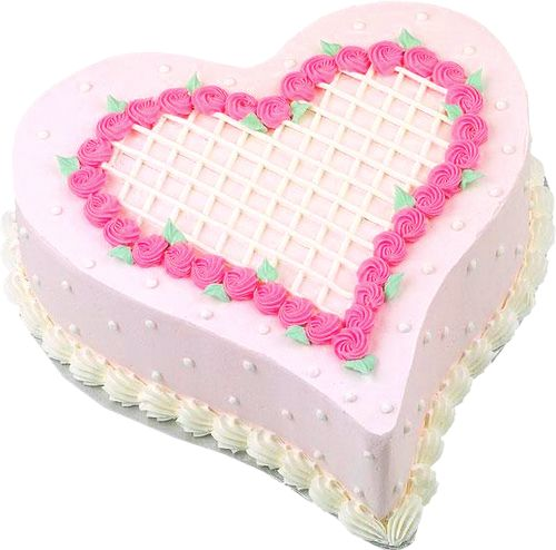 Pink Heart Cake PNG Picture Clipart.
