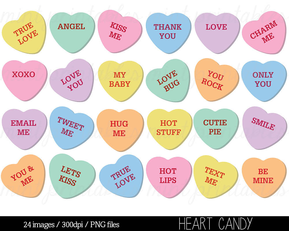 Heart candy clipart.